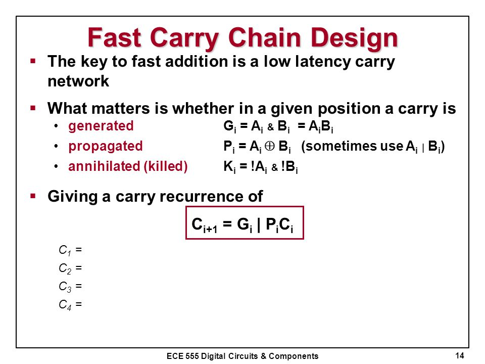 Fast Carry Chain Design