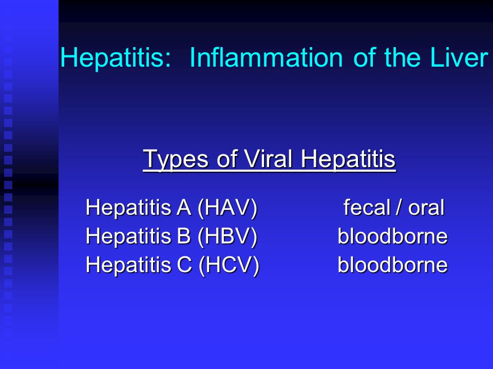 Hepatitis: Inflammation of the Liver