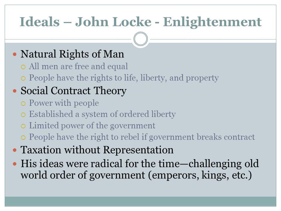 Ideals – John Locke - Enlightenment