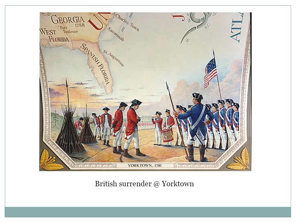 British surrender @ Yorktown