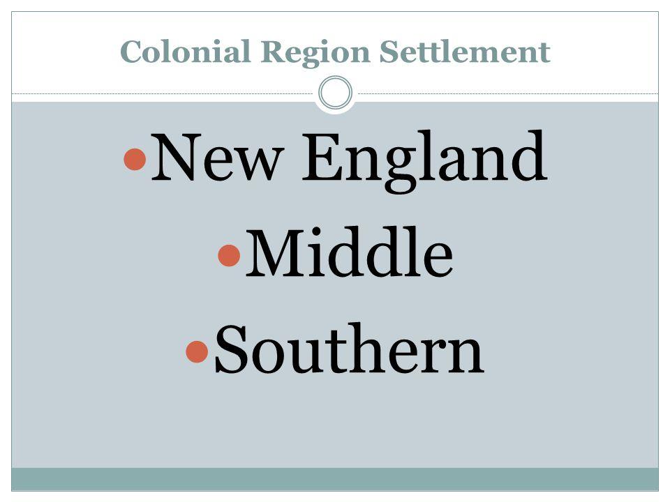 Colonial Region Settlement