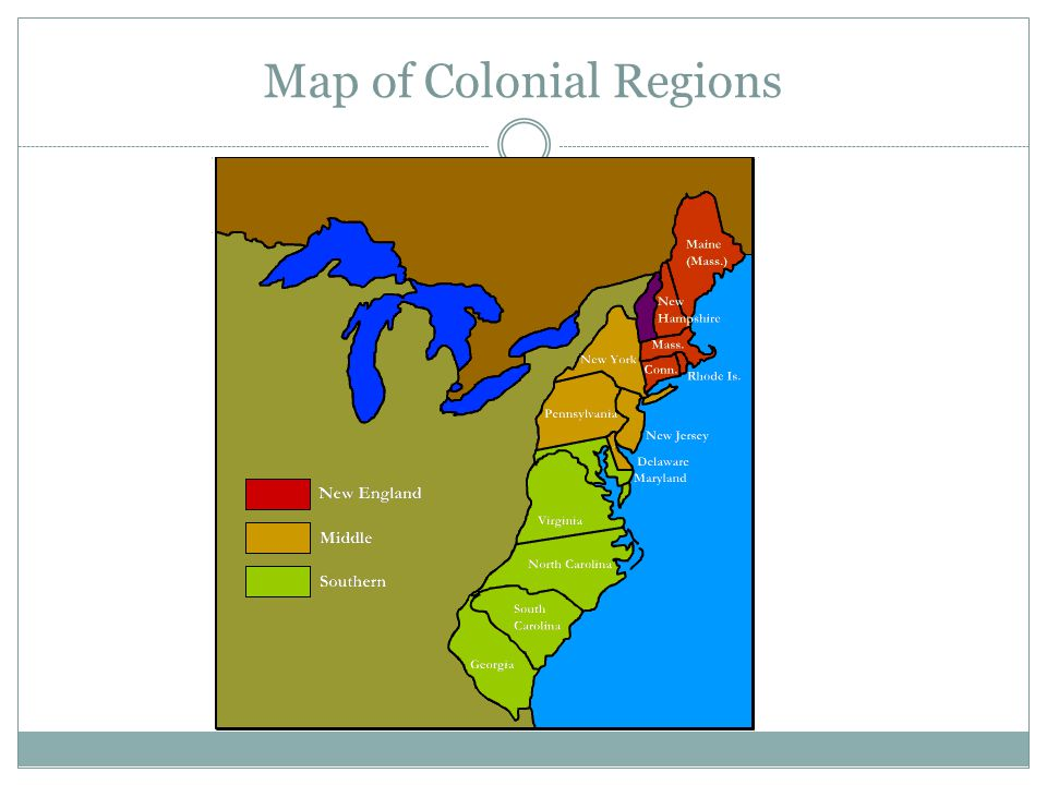 9 Map Of Colonial Regions