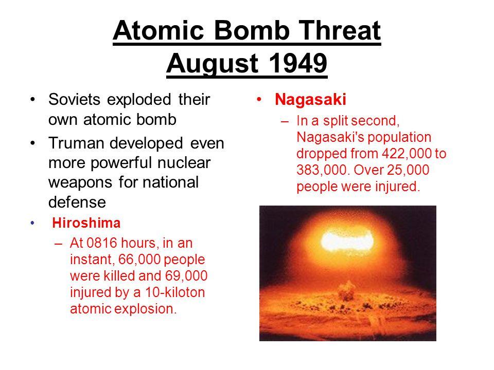 Atomic Bomb Threat August 1949