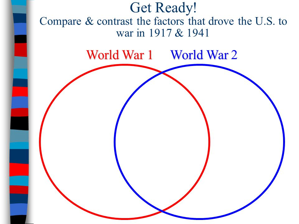 Get Ready. Compare & contrast the factors that drove the U. S