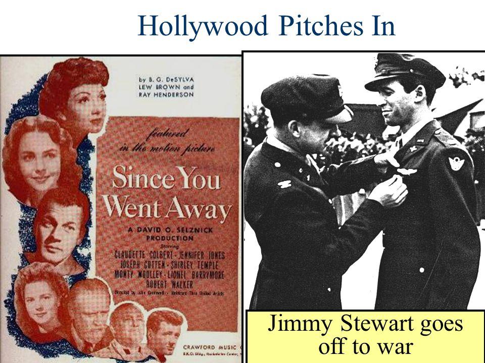 Jimmy Stewart goes off to war