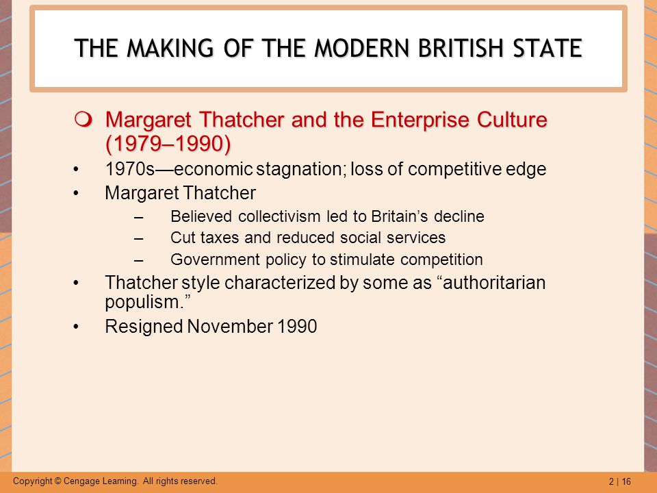 THE MAKING OF THE MODERN BRITISH STATE