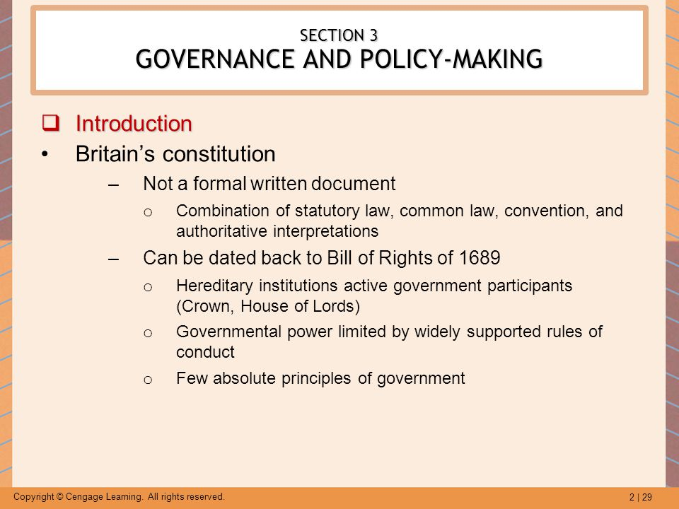 SECTION 3 GOVERNANCE AND POLICY-MAKING