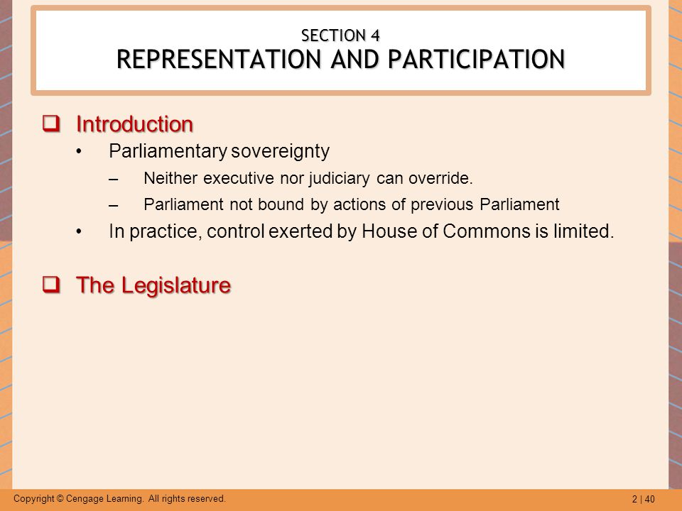 SECTION 4 REPRESENTATION AND PARTICIPATION