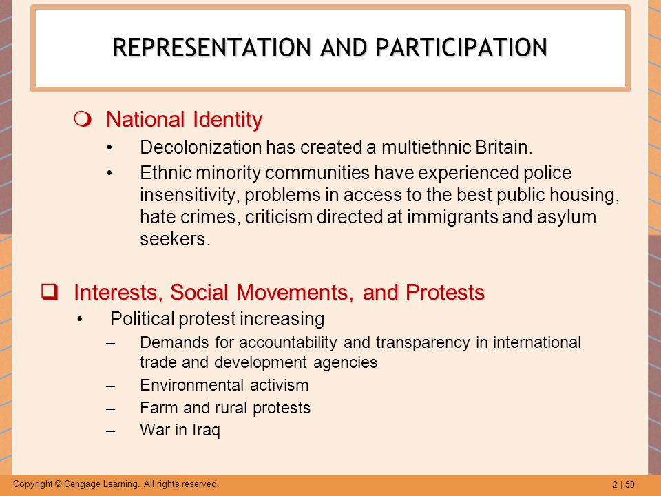 REPRESENTATION AND PARTICIPATION