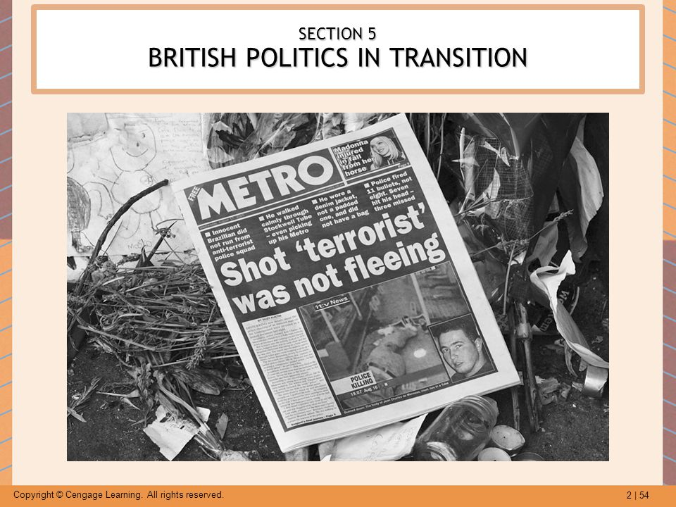 SECTION 5 BRITISH POLITICS IN TRANSITION