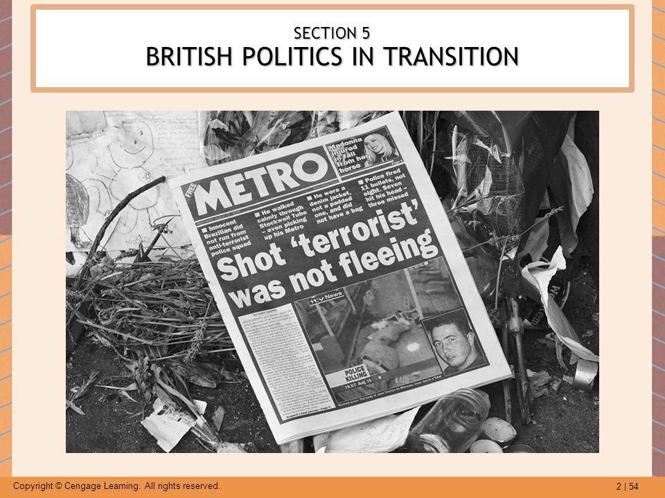 SECTION 5 BRITISH POLITICS IN TRANSITION