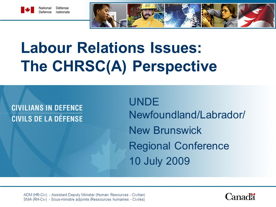 Labour Relations Issues: The CHRSC(A) Perspective