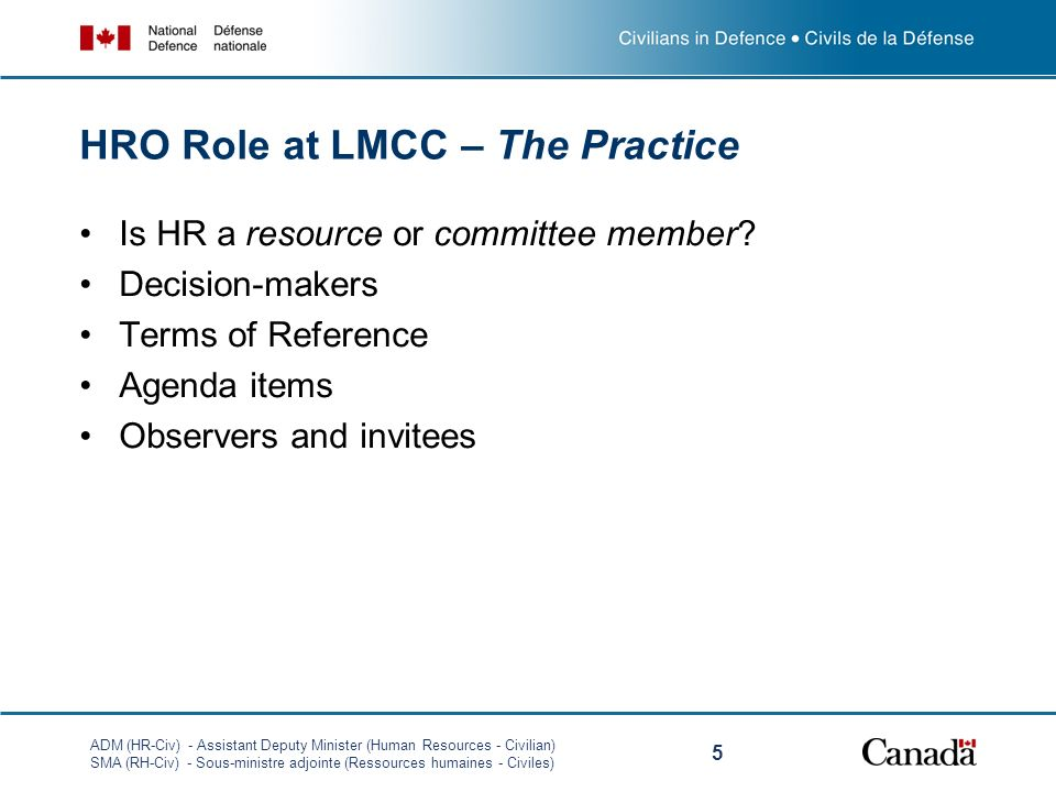 HRO Role at LMCC – The Practice