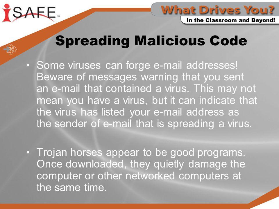 Spreading Malicious Code