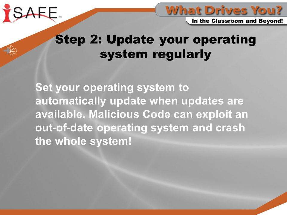 Step 2: Update your operating system regularly