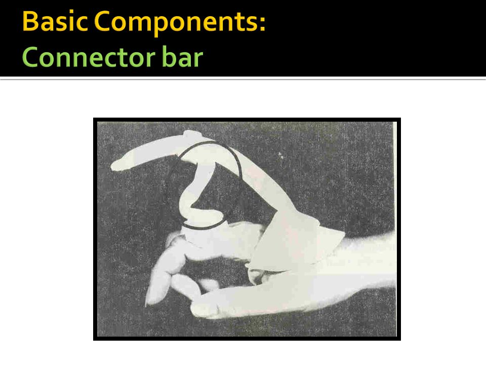 Basic Components: Connector bar