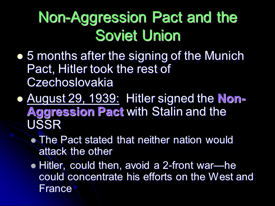 Non-Aggression Pact and the Soviet Union