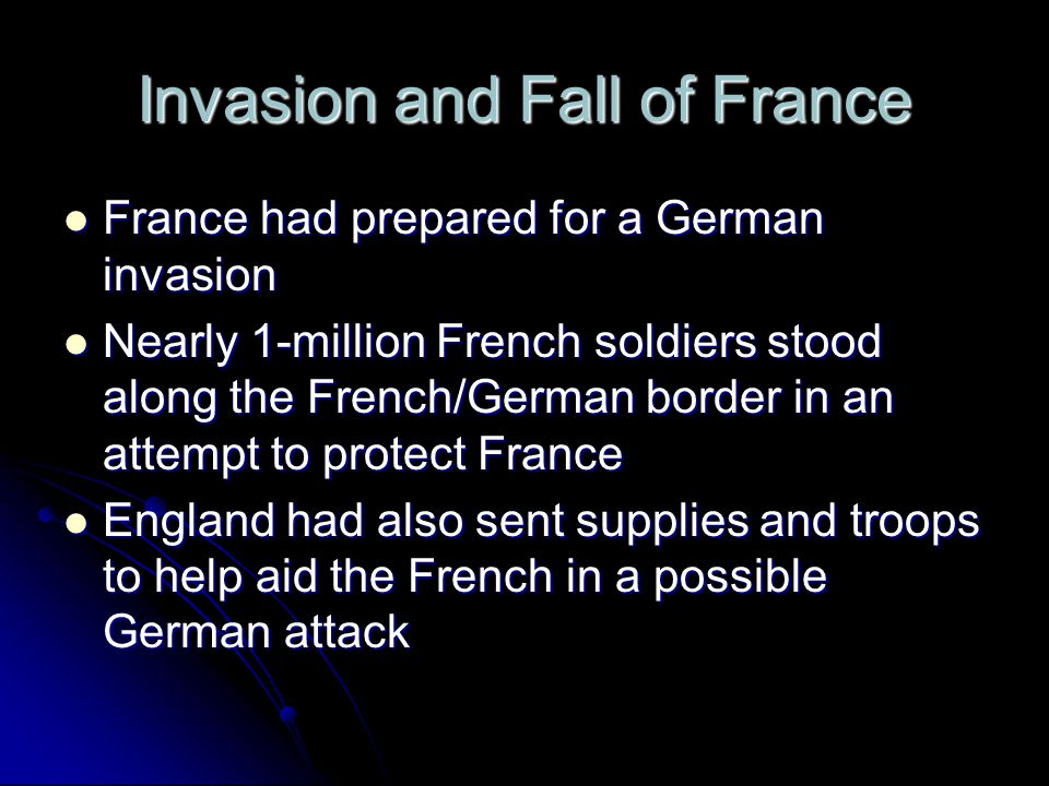 Invasion and Fall of France