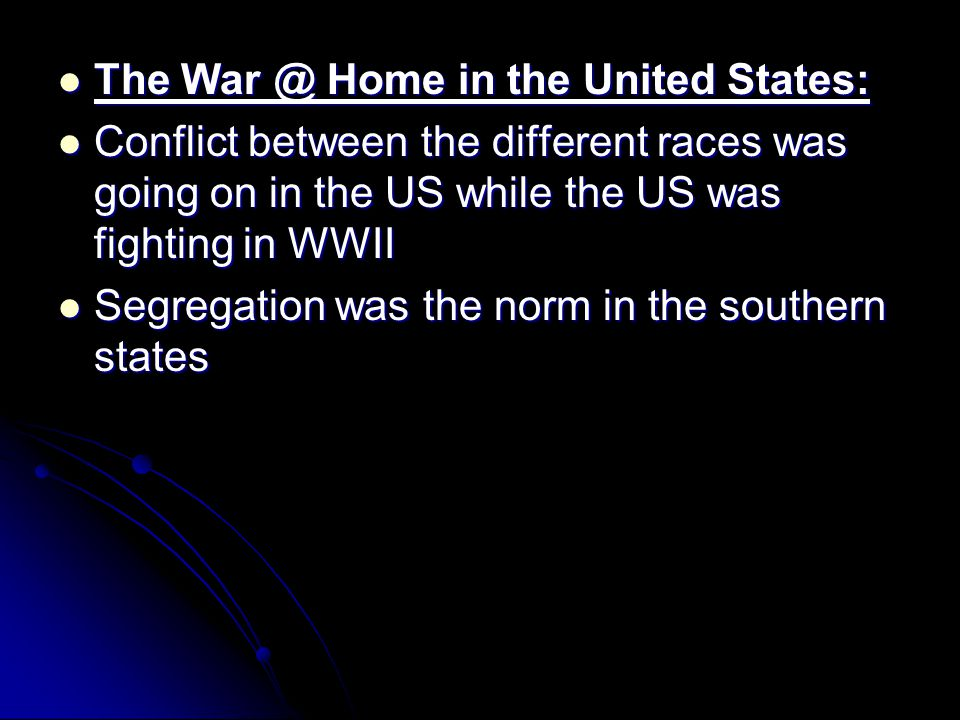 The War @ Home in the United States: