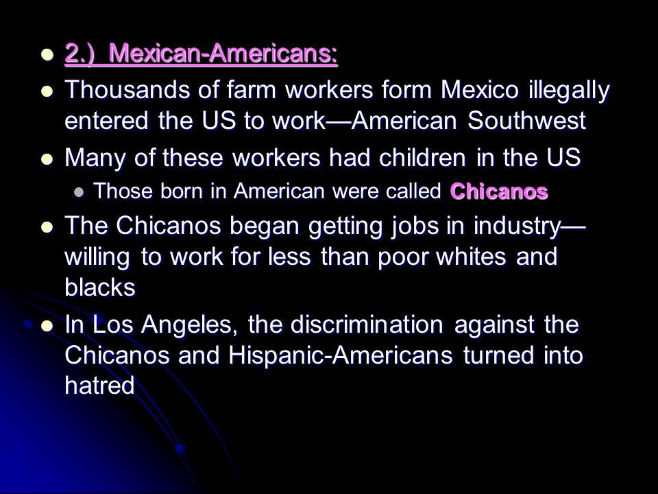 Many of these workers had children in the US