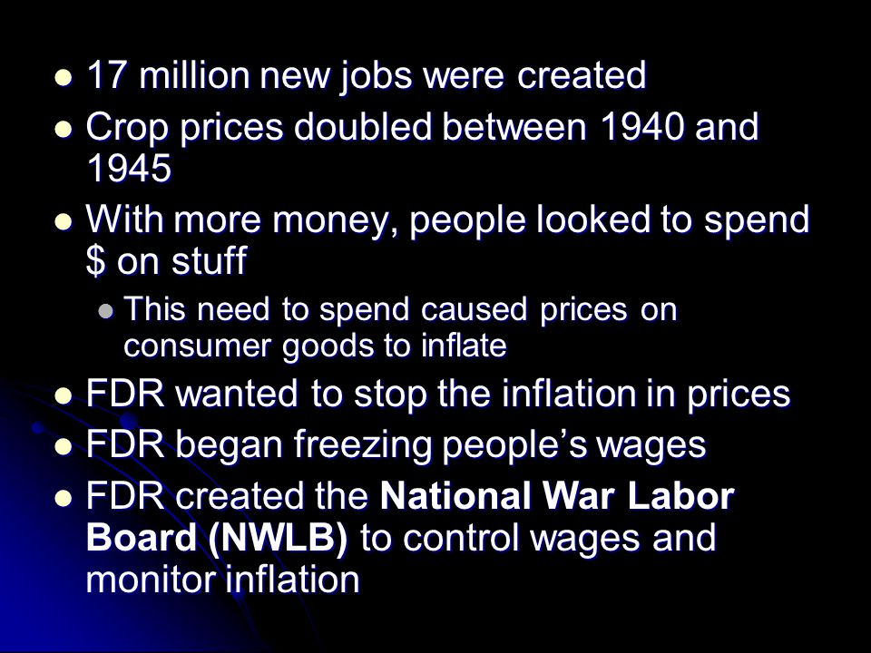 17 million new jobs were created