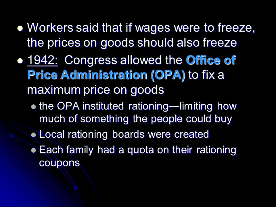 Workers said that if wages were to freeze, the prices on goods should also freeze