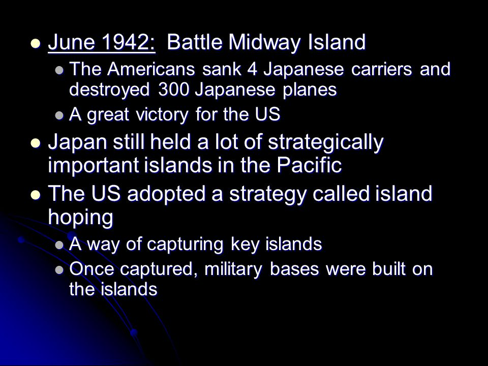 June 1942: Battle Midway Island