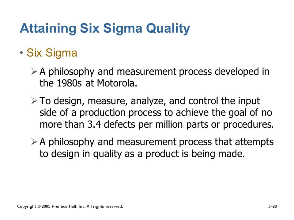Attaining Six Sigma Quality