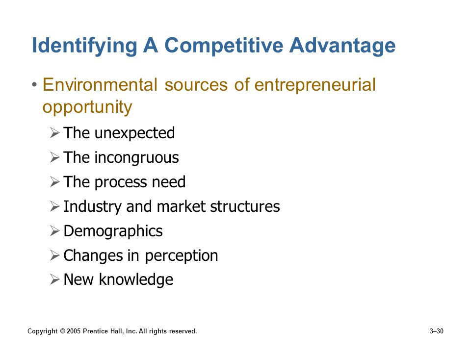 Identifying A Competitive Advantage
