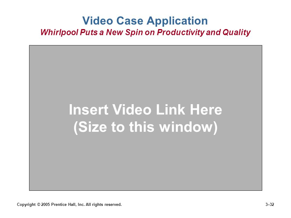 Insert Video Link Here (Size to this window)