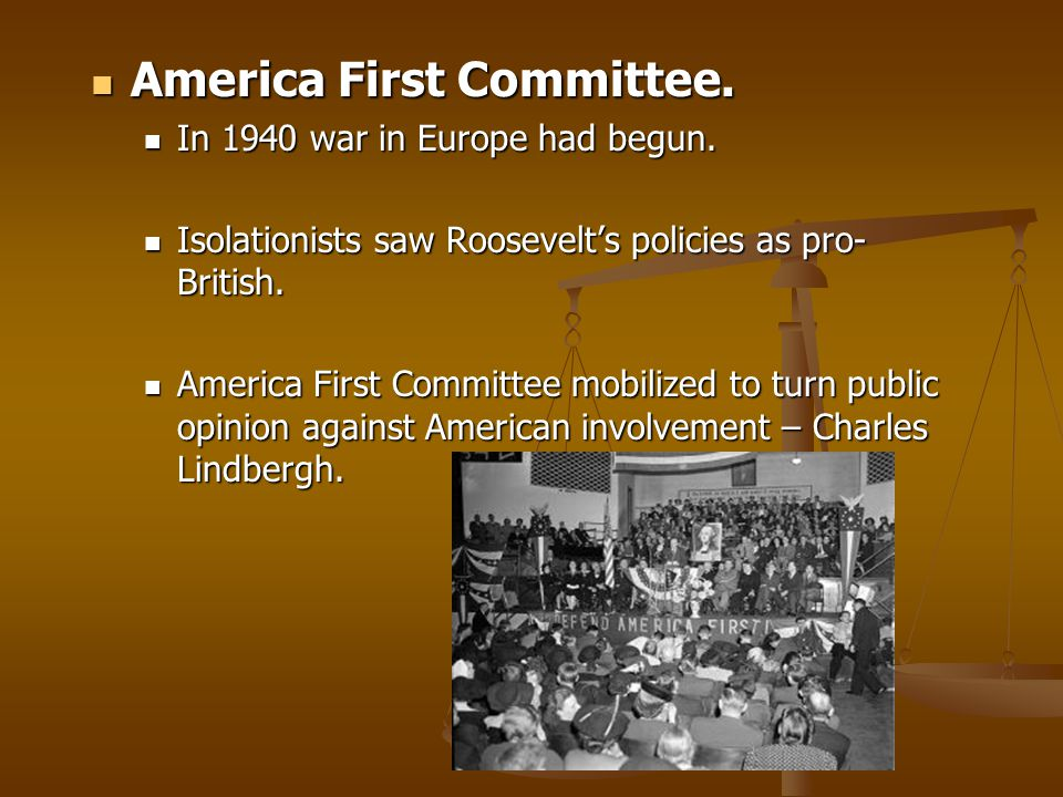 America First Committee.