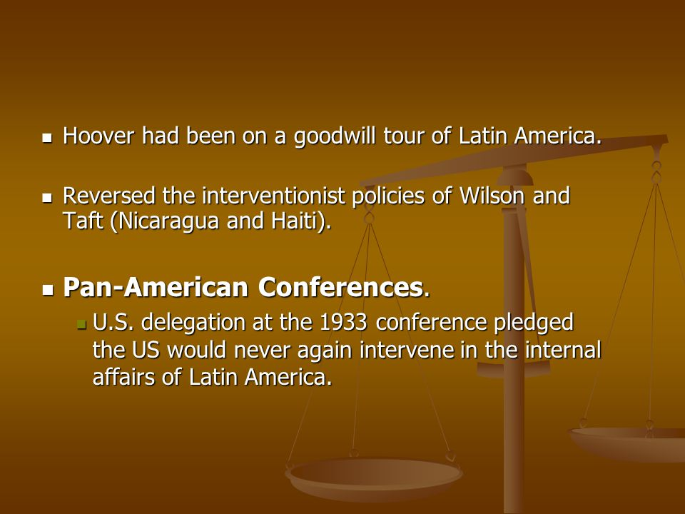 Pan-American Conferences.