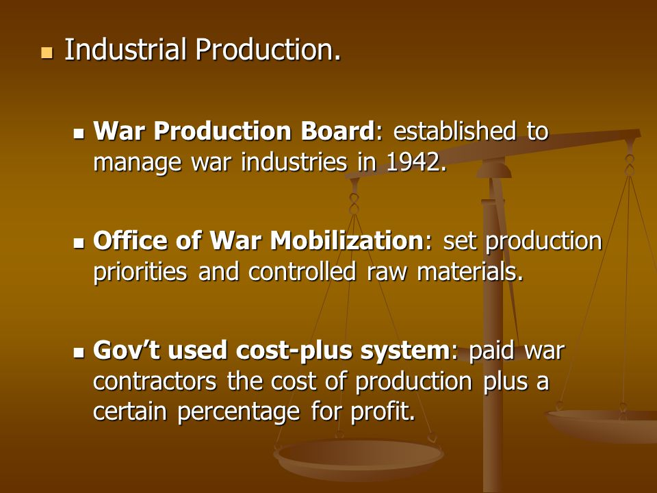 Industrial Production.