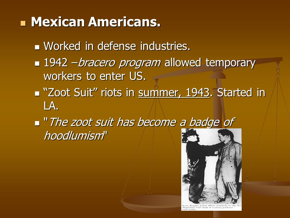 Mexican Americans. Worked in defense industries.