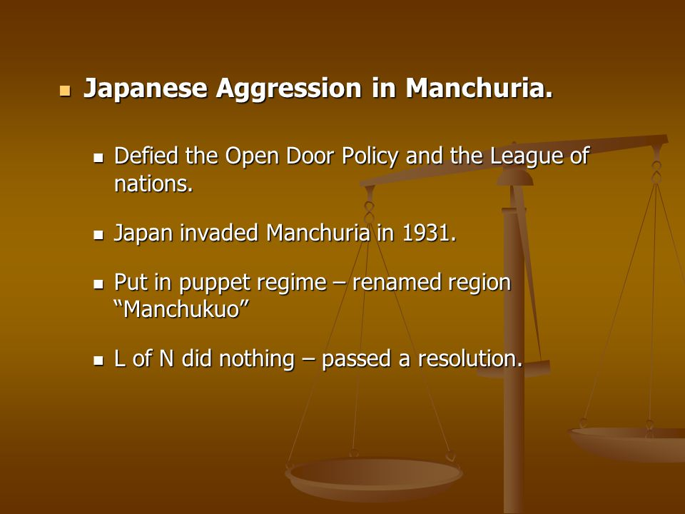 Japanese Aggression in Manchuria.