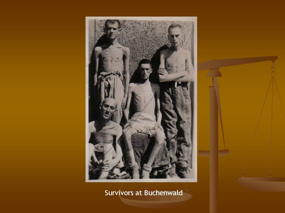 Survivors at Buchenwald