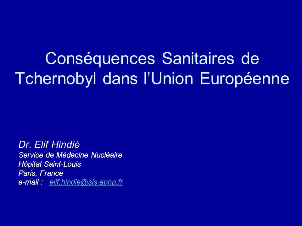 Conséquences Sanitaires de Tchernobyl dans l'Union Européenne