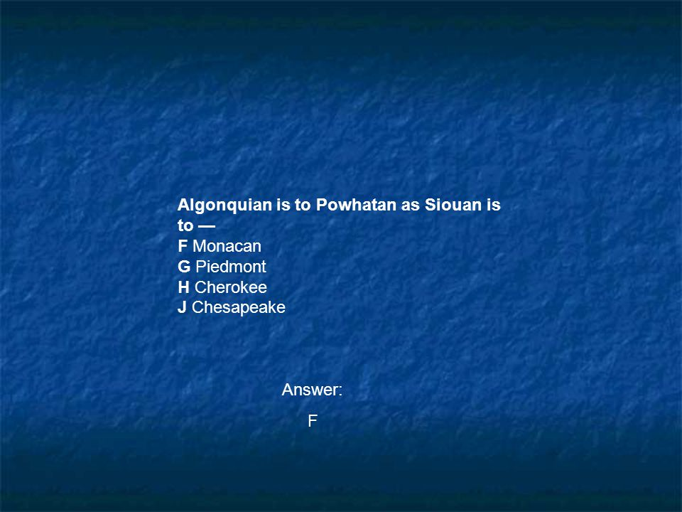 Algonquian is to Powhatan as Siouan is to —