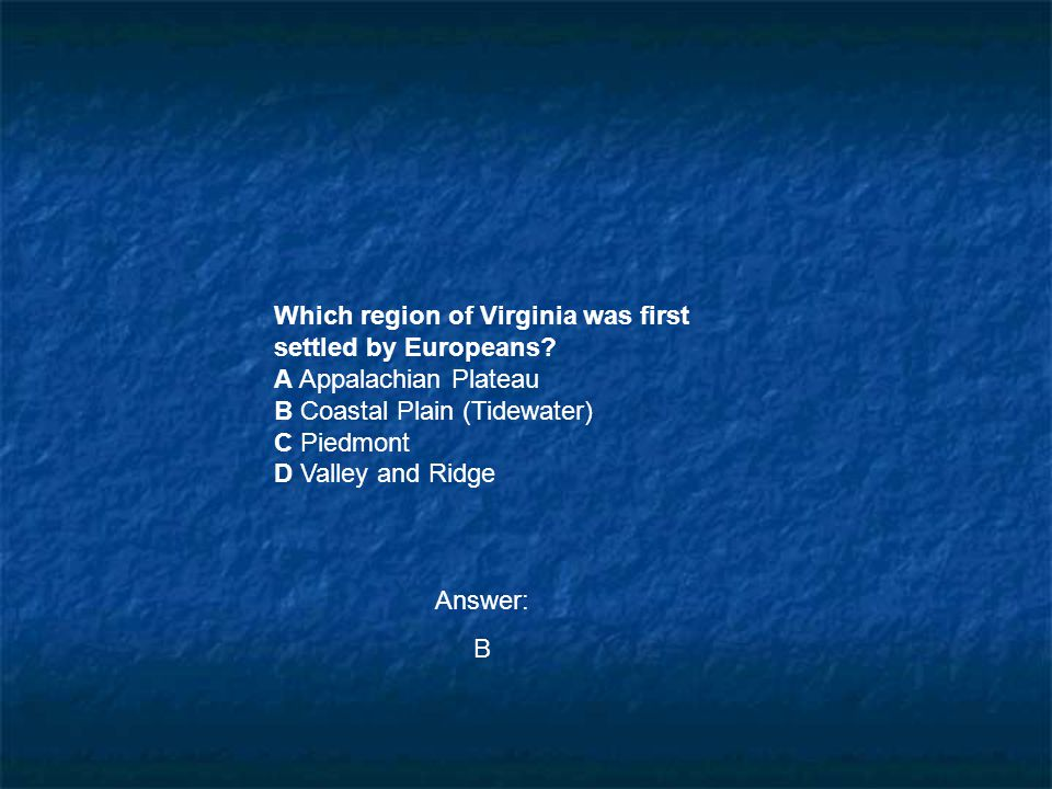 Which region of Virginia was first settled by Europeans