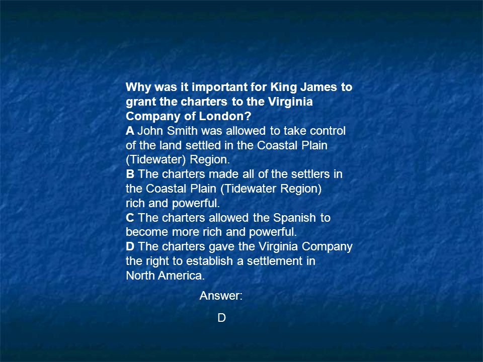 Why was it important for King James to grant the charters to the Virginia
