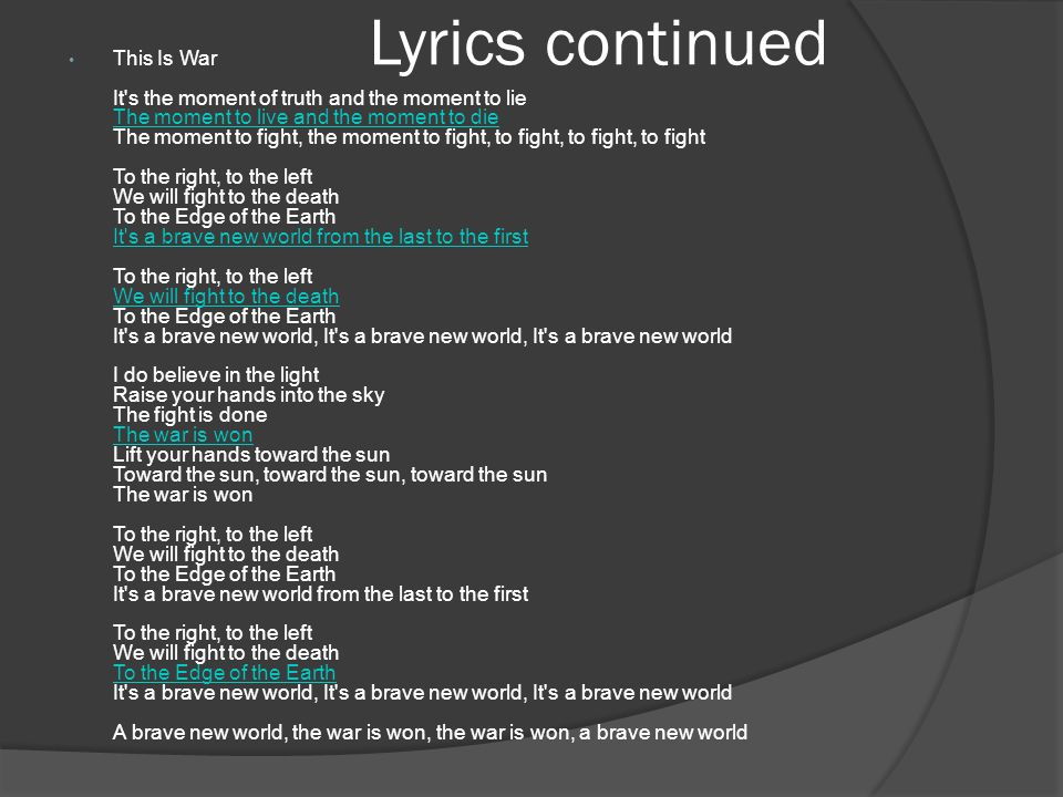 Lyrics continued