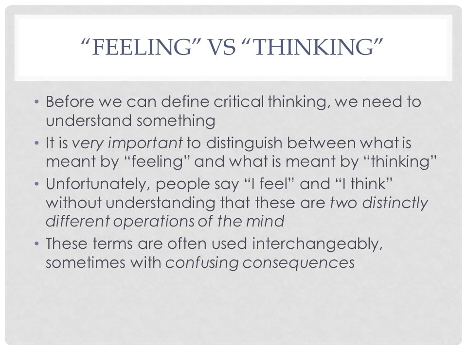 Feeling vs Thinking