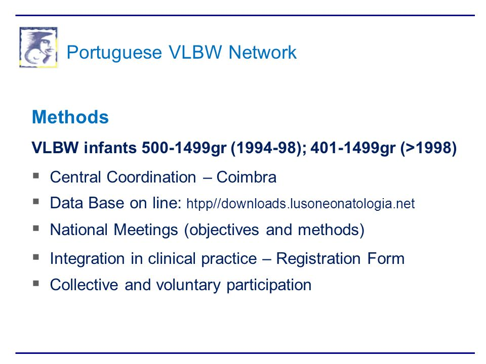 Portuguese VLBW Network