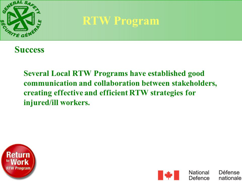 RTW Program Success.
