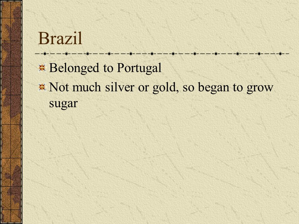 Brazil Belonged to Portugal
