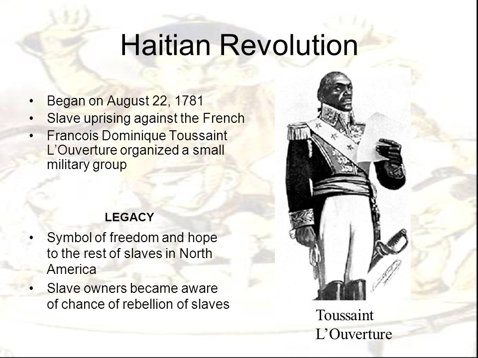 the haitian revolution the slave The impact of the haitian revolution was both immediate and widespread the antislavery fighting immediately spawned unrest throughout the region.