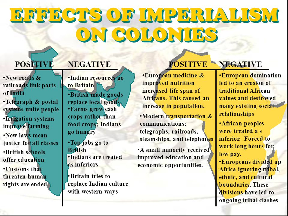 how did africans react to imperialism The primary motive of british imperialism in china in the nineteenth century was economic  as it did in india or africa, its cultural and political legacy is .