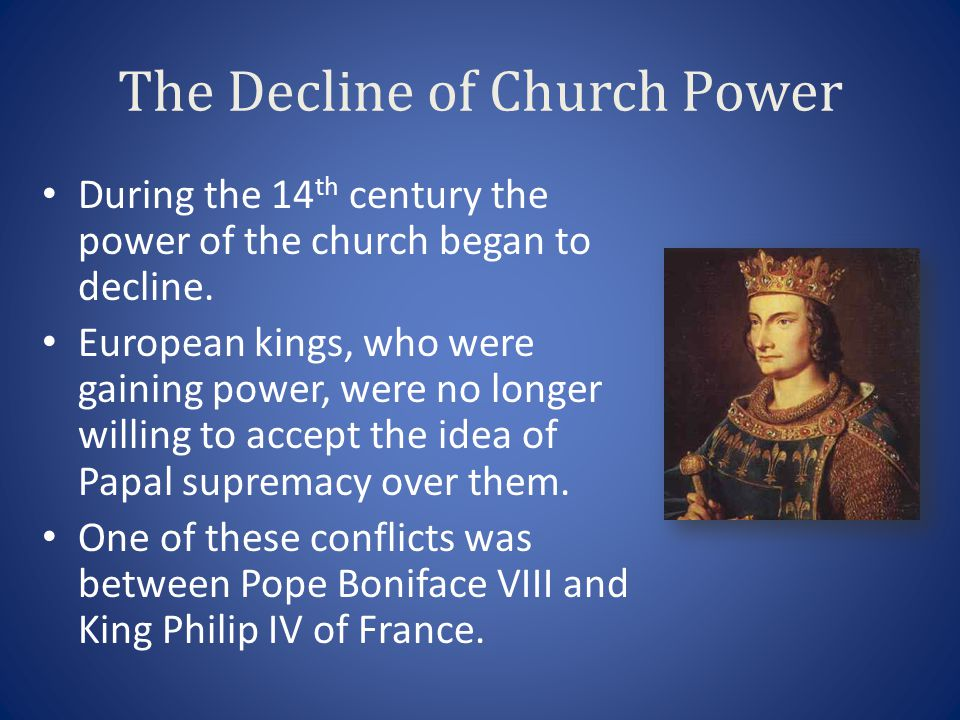 The Decline of Church Power