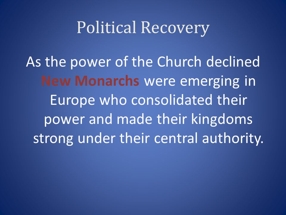 Political Recovery