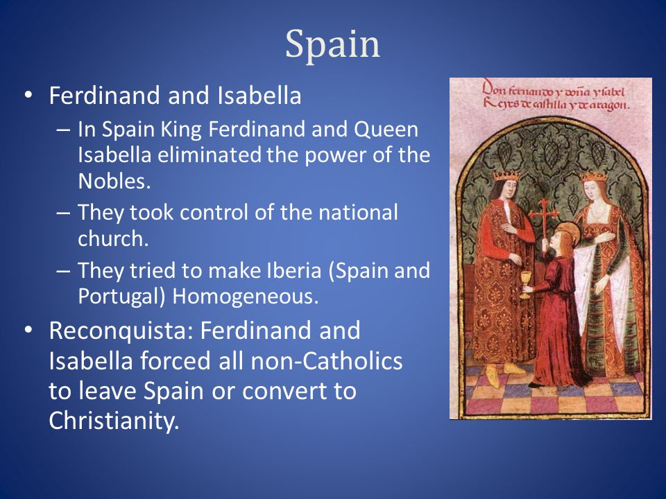 Spain Ferdinand and Isabella